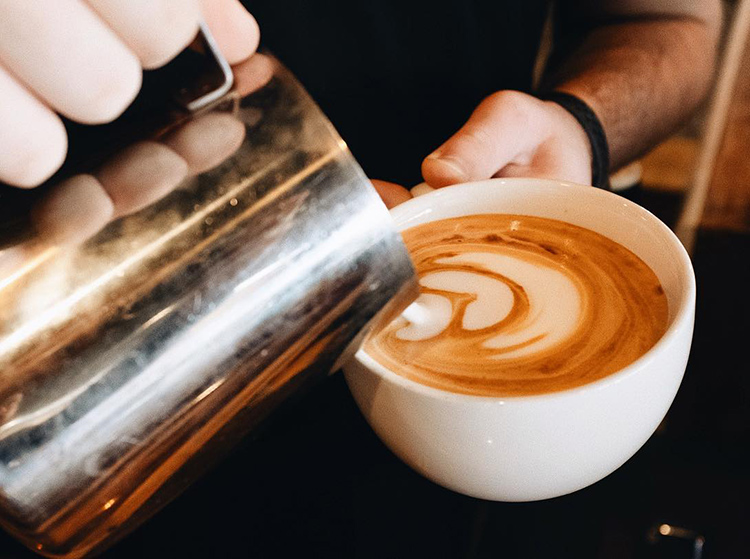 2 - Enjoy our hand crafted coffee beverages